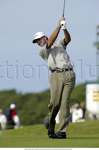 LEN MATTIACE (USA). The Open Championship, Muirfield, Scotland 020718 Photo:Glyn Kirk/Action Plus...Golf.2002.