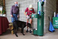 The Beaver Water District partnered with the Northwest Arkansas Land Trust, the Ozark Smokehouse and Frank Sharp to put in a new Hydration Station at the Ozark Smokehouse in Fayetteville. The hydration station is located just outside the Kessler Mountain Nature Center to provide clean drinking water to students, hikers and pets who visit the Outdoor Classroom's 0.6 mile Interpretive Loop Trail, which is open to the public from sunrise to sundown seven days a week. The trail is accessed from the picnic area just outside the Ozark Smokehouse. Check out nwaonline.com/200801Daily/ and nwadg.com/photos for a photo gallery.<br /> (NWA Democrat-Gazette/David Gottschalk)<br /> <br /> FEA WATER 8-1