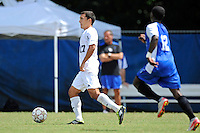 2 October 2011:  FIU midfielder/forward Mario Uribe (17) moves the ball upfield in the first half as the FIU Golden Panthers defeated the University of Kentucky Wildcats, 1-0 in overtime, at University Park Stadium in Miami, Florida.