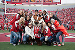 Wisconsin Badgers women's basketball team is introduced during an NCAA college football game against the Indiana Hoosiers on November 13, 2010 at Camp Randall Stadium in Madison, Wisconsin. The Badgers won 83-20. (Photo by David Stluka)