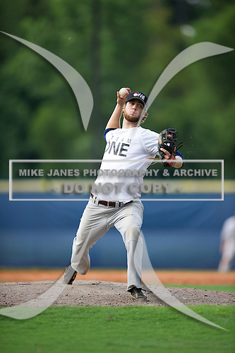 Daniel Goff #22 during the Team One South Showcase presented by Baseball Factory at Chappell Park on July 14, 2012 in Atlanta, Georgia.  (Copyright Mike Janes Photography)