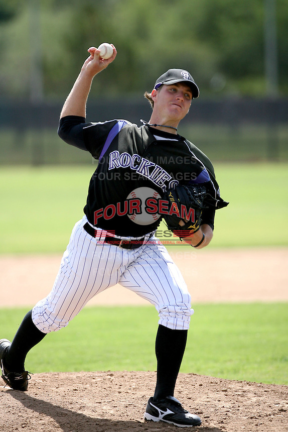 Chad Rose / Colorado Rockies 2008 Instructional League..Photo by:  Bill Mitchell/Four Seam Images