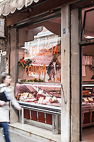 Macelleria Equina in the Rialto Market, Venice, Italy. Images are available for editorial licensing, either directly or through Gallery Stock. Some images are available for commercial licensing. Please contact lisa@lisacorsonphotography.com for more information.