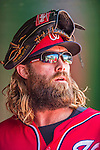 7 September 2014: Washington Nationals outfielder Jayson Werth walks the dugout prior to a game against the Philadelphia Phillies at Nationals Park in Washington, DC. The Nationals defeated the Phillies 3-2 to salvage the final game of their 3-game series. Mandatory Credit: Ed Wolfstein Photo *** RAW (NEF) Image File Available ***