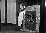 Wilkinsburg PA:  Helen Stewart hanging a Christmas Stocking - 1918