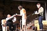 Laurence O'Dwyer, Felicity Jones, Sebastian Naskaris star in Harold Pinter's The Homecoming at Centerstage, Baltimore, Maryland. Dress Rehearsal - January 27, 2011. (Photos by Sue Coflin/Max Photos)
