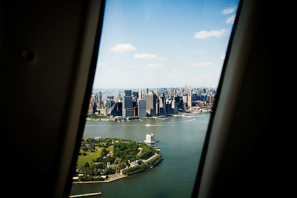 Started in March of 2006, US Helicopter is now running several daily taxi services to JFK airport for $160 each way. Overseen by both the Port Authority and TSA due to concerns over security procedures, US Helicopter has seen its business steadily grow since its induction.. Views of Manhattan and Brooklyn enroute to JF Airport from the lower tip of Manhattan.