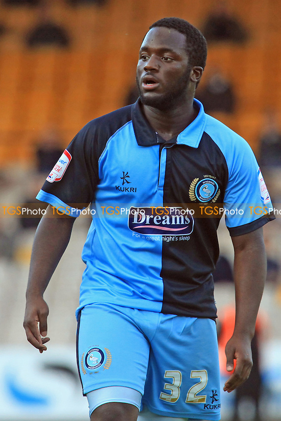 Junior Morias of Wycombe Wanderers - Port Vale vs Wycombe Wanderers - NPower League Two Football at Vale Park - 20/10/12 - MANDATORY CREDIT: Paul Dennis/TGSPHOTO - Self billing applies where appropriate - 0845 094 6026 - contact@tgsphoto.co.uk - NO UNPAID USE.