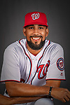 22 February 2019: Washington Nationals pitcher Ronald Pena poses for his Photo Day portrait at the Ballpark of the Palm Beaches in West Palm Beach, Florida. Mandatory Credit: Ed Wolfstein Photo *** RAW (NEF) Image File Available ***