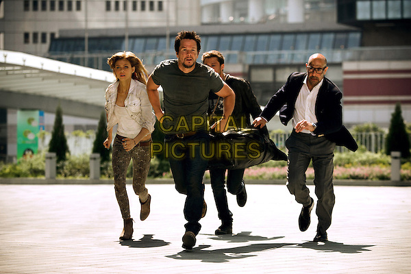 Nicola Peltz, Mark Wahlberg, Jack Reynor, Stanley Tucci <br /> in Transformers: Age of Extinction (2014) <br /> *Filmstill - Editorial Use Only*<br /> CAP/FB<br /> Image supplied by Capital Pictures