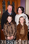+++Reproduction Free+++<br /> Gary and Ann Marie O'Keeffe from Abbeyfeale with nieces Abbie Kelleher and Nora Anne Harnett enjoying a family night out in Leen's Hotel, Abbeyfeale last Saturday evening.