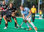ROTTERDAM-  finale ABN AMRO CUP 2019. Bloemendaal-Amsterdam (1-3) . Floris Wortelbioer (Bldaal)  met Floris Middendorp (Adam)   COPYRIGHT KOEN SUYK.