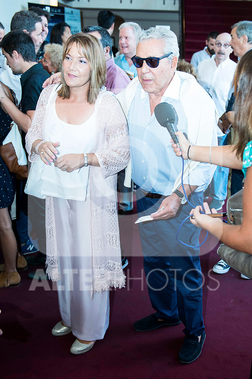 """Andres Pajares and Juana Gil during the red carpet of the theater play """"La Asamblea de las Mujeres"""" at Teatro La Latina in Madrid. August 25. 2016. (ALTERPHOTOS/Borja B.Hojas)"""