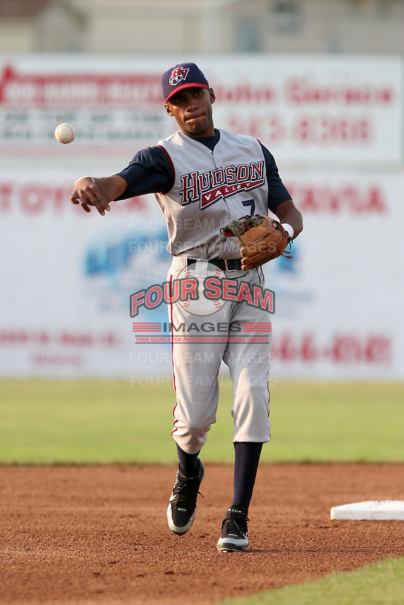Hudson Valley Renegades Jairo DeLaRosa during a NY-Penn League game at Dwyer Stadium on July 8, 2006 in Batavia, New York.  (Mike Janes/Four Seam Images)