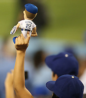 September 24, 2014 Los Angeles, CA: FANS during an MLB game between the San Francisco Giants and the Los Angeles Dodgers played at Dodger Stadium The Dodgers defeated the Giants 9-1 to win the National League West Title.