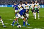 17.01.2020, VELTINS-Arena, Gelsenkirchen, GER, DFL, 1. BL, FC Schalke 04 vs Borussia Moenchengladbach, DFL regulations prohibit any use of photographs as image sequences and/or quasi-video<br /> <br /> im Bild / picture shows / v. li. im Zweikampf Suat Serdar (#8, FC Schalke 04) Marcus Thuram  (#10, Borussia Moenchengladbach) <br /> <br /> Foto © nordphoto/Mauelshagen
