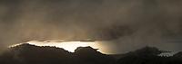 Moody sunset over Lake Waikaremoana, Te Urewera, Hawke's Bay, North Island, New Zealand, NZ