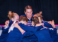 Den Bosch, The Netherlands, Februari 9, 2019,  Maaspoort , FedCup  Netherlands - Canada, Presentation, Dutch team<br /> Photo: Tennisimages/Henk Koster