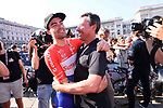 Tom Dumoulin (NED) Team Sunweb wins the general classification at the end of Stage 21, the final stage of the 100th edition of the Giro d'Italia 2017, an individual time trial running 29.3km from Monza Autodrome to Milan Duomo, Italy. 28th May 2017.<br /> Picture: LaPresse/Gian Mattia D'Alberto | Cyclefile<br /> <br /> <br /> All photos usage must carry mandatory copyright credit (&copy; Cyclefile | LaPresse/Gian Mattia D'Alberto)