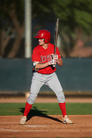 AZL Angels Spencer Brown (9) at bat during an Arizona League game against the AZL D-backs on July 20, 2019 at Salt River Fields at Talking Stick in Scottsdale, Arizona. The AZL Angels defeated the AZL D-backs 11-4. (Zachary Lucy/Four Seam Images)