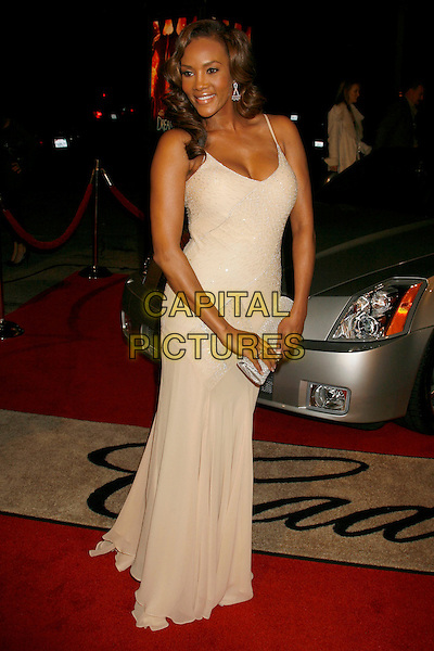 "VIVICA A. FOX.""Dreamgirls"" Los Angeles Premiere held at the Wilshire Theatre, Beverly Hills, California, USA..December 11th, 2006.full length cream yellow dress silver clutch purse .CAP/ADM/RE.©Russ Elliot/AdMedia/Capital Pictures"