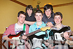 CEOL CONCERT: Taking part in the Gael Scoil Cholaiste Chiarrai Ceol concert night at the Meadowlands hotel, Tralee on Friday front l-r: Julian Boland, Andrew Finn and Kealan Dowling. Back l-r: Tadgh Flynn and Joey Boland.