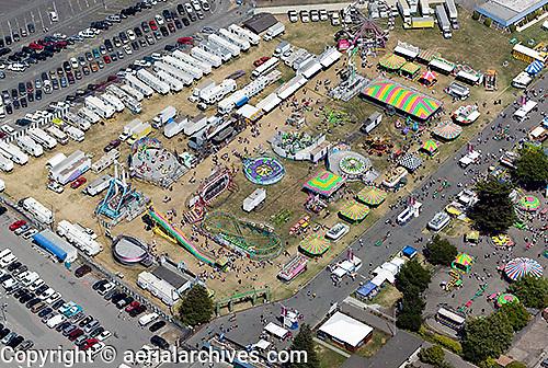 aerial photograph Sonoma-Marin county fairgrounds, Petaluma, Sonoma county, California