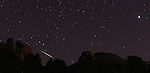 The Perseids meteor showers are seen above Carson City, Nev., on Thursday, Aug. 12, 2010.  .Photo by Cathleen Allison.