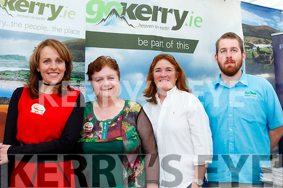 The kingdom<br /> -----------------<br /> Selling County Kerry at the National Ploughing Championships last Tuesday were L-R Sandra Leahy, Trina Houlihan, Grace O'Donnell with Ian McArthor.
