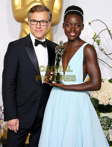 02 March 2014 - Hollywood, California -  Christoph Waltz, Lupita Nyong'o. 86th Annual Academy Awards held at the Dolby Theatre at Hollywood &amp; Highland Center. <br /> CAP/ADM<br /> &copy;AdMedia/Capital Pictures
