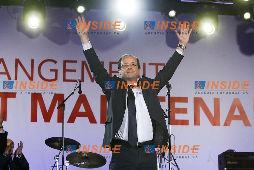 Francois Hollande nuovo Presidente della Repubblica Francese..06/05/2012 Parigi.Foto Insidefoto / Gwendoline Le Goff  / Panoramic..Only Italy