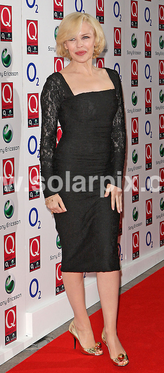**ALL ROUND PICTURES FROM SOLARPIX.COM**.**WORLDWIDE SYNDICATION RIGHTS**.Arrivals for the 2007 Q Magazine Music Awards...This pic: Kylie Minogue..JOB REF: 4955 SSD     DATE: 08_10_2007.**MUST CREDIT SOLARPIX.COM OR DOUBLE FEE WILL BE CHARGED* *UNDER NO CIRCUMSTANCES IS THIS IMAGE TO BE REPRODUCED FOR ANY ONLINE EDITION WITHOUT PRIOR PERMISSION*