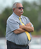 Erwin Dill, Bethpage varsity football head coach, surveys the field during a Nassau County Conference III game against host Lawrence High School on Saturday, Oct. 7, 2017.