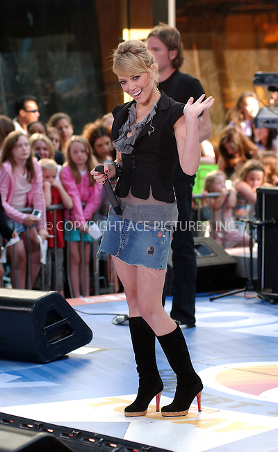 WWW.ACEPIXS.COM . . . . . ....NEW YORK, AUGUST 18, 2005....Hilary Duff performs on The Today Show.....Please byline: KRISTIN CALLAHAN - ACE PICTURES.. . . . . . ..Ace Pictures, Inc:  ..Craig Ashby (212) 243-8787..e-mail: picturedesk@acepixs.com..web: http://www.acepixs.com