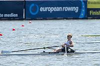 Brandenburg. GERMANY.<br /> GBR W1X. Mathilda  HODGKINS-BYRNE,  2016 European Rowing Championships at the Regattastrecke Beetzsee<br /> <br /> Saturday  07/05/2016<br /> <br /> [Mandatory Credit; Peter SPURRIER/Intersport-images]