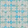 Zazen, jewel glass mosaic shown in Aquamarine and Quartz, is part of the Miraflores collection by Paul Schatz for New Ravenna.