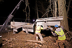 Bridge removal, Bethel Rd and NE Pa Turnpike Extension with Thackray 500T carne, March 16, 2008 AM.