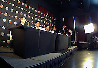 WASHINGTON, DC-JULY 10,2012:  Doug Hicks introduces Kevin Payne, Erick Thohir, Jason Levien and Will Chang during a D.C. United ownership press conference at the POV Lounge in the W Hotel, Washington, DC.