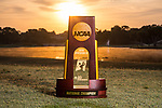 HOWEY IN THE HILLS, FL - MAY 11: The DIII Women's Golf National Championship Trophy. The Claremont Mudd Scripps wins the team and individual (Margaret Loncki) First Place Championships during the Division III Women's Golf Championship held at the Mission Inn Resort & Club on May 11, 2018 in Howey-In-The-Hills, Florida. (Photo by Matt Marriott/NCAA Photos via Getty Images)