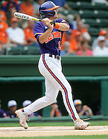 Clemson shortstop Brad Miller (13) in a game against the Furman Paladins on Tuesday, May 10, 2011, at Fluor Field in Greenville, S.C. Miller was named Atlantic Coast Conference player of the week May 16 for the third time this season. Photo by Tom Priddy / Four Seam Images