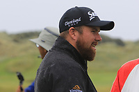 Shane Lowry (IRL) on the driving range during the preview of the the 148th Open Championship, Portrush golf club, Portrush, Antrim, Northern Ireland. 17/07/2019.<br /> Picture Thos Caffrey / Golffile.ie<br /> <br /> All photo usage must carry mandatory copyright credit (© Golffile | Thos Caffrey)