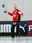 Stockholm 2014-03-02 Handboll Elitserien Hammarby IF - Ystads IF :  <br /> Hammarbys m&aring;lvakt Daniel Svensson<br /> (Foto: Kenta J&ouml;nsson) Nyckelord:  Ystad Bajen HIF portr&auml;tt portrait