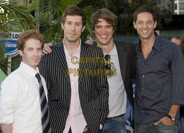 25 July 2005 - Los Angeles, California - Seth Green, Josh Cooke, Shane McRae, and Todd Grinnell.  2005 NBC Network All Star Celebration Arrivals held at the Century Club.  Photo Credit: Zach Lipp/AdMedia