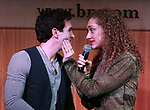 Jarrod Spector and Micaela Diamond during 'The Cher Show' Original Broadway Cast Recording performance and CD signing at Barnes & Noble Upper East Side on May 14, 2019 in New York City.