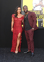 "10 June 2016 - Los Angeles, California - Danielle Nicolet and Kevin Hart. ""Central Intelligence"" Los Angeles Premiere held at Westwood Village Theatre. Photo Credit: AdMedia"