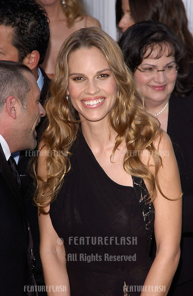 Feb 06, 2005: Los Angeles, CA: HILARY SWANK at the 11th Annual Screen Actors Guild Awards at the Shrine Auditorium.