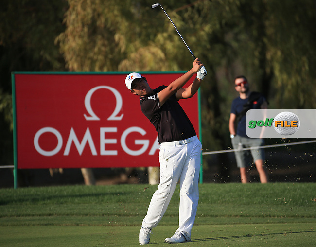 Byeong Hun-An (KOR) during Round One of the 2016 Omega Dubai Desert Classic, played on the Emirates Golf Club, Dubai, United Arab Emirates.  04/02/2016. Picture: Golffile | David Lloyd<br /> <br /> All photos usage must carry mandatory copyright credit (&copy; Golffile | David Lloyd)