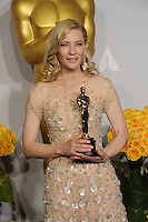 Cate Blanchett at the 86th Annual Academy Awards at the Dolby Theatre, Hollywood.<br /> March 2, 2014  Los Angeles, CA<br /> Picture: Paul Smith / Featureflash