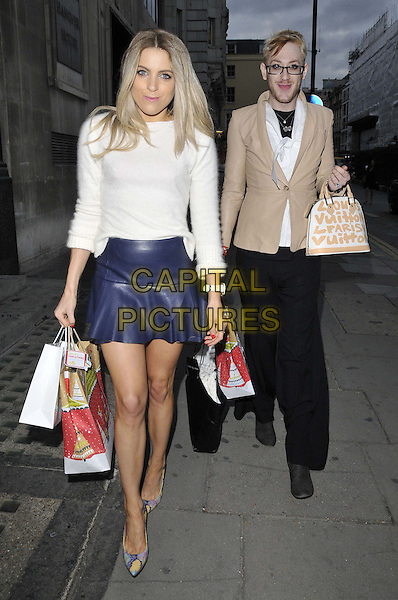 LONDON, ENGLAND - OCTOBER 01: Olivia Cox &amp; Lewis-Duncan Weedon attend the Cherry Edit new fashion website launch party, Cafe KaiZen, Hanover Square, on Wednesday October 01, 2014 in London, England, UK. <br /> CAP/CAN<br /> &copy;Can Nguyen/Capital Pictures