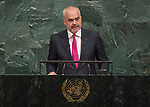 72 General Debate &ndash; 22 September <br /> <br /> His Excellency Edi Rama, Prime Minister of the Republic of Albania